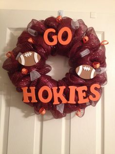 Virginia Tech Hokies Wreath