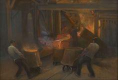 Johan Coenraad Hermann 'Herman' Heijenbrock (Amsterdam 1871-1948 Blaricum) Ijzergieterij - Kunsthandel Simonis en Buunk, Ede (Nederland).