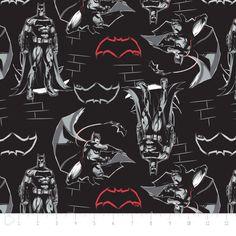 676837c33e4 Batman VS Superman Black Premium Camelot 100 Cotton Fabric by The Yard |  eBay