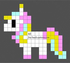New Ideas Knitting Charts Patterns Design Hama Beads Easy Perler Bead Patterns, Melty Bead Patterns, Perler Bead Templates, Diy Perler Beads, Perler Bead Art, Beading Patterns, Hama Beads Disney, Hamma Beads Ideas, Unicorn Cross Stitch Pattern