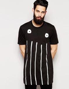 Image 1 ofG-Star For The Oceans T-Shirt Occotis Face Print Longline