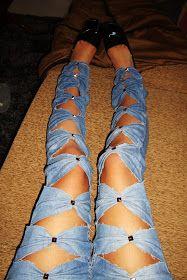 ! * YULIE KENDRA´S LIFE * !: DIY Jeans im Schleifchen Nieten Look !!!
