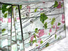 Stained glass jewelry box by GaleazGlass.