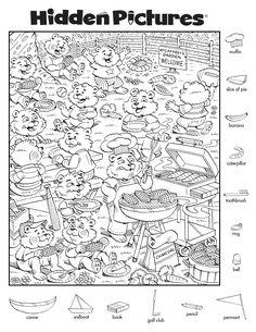 Coloring Books, Coloring Pages, Colouring Sheets, Car Trip Activities, Highlights Hidden Pictures, Hidden Pictures Printables, Hidden Picture Puzzles, Hidden Words, Hidden Figures