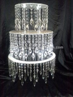 Acrylic Crystal Chandelier Wedding Cake Stand - Buy Wedding Cake ...