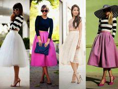 Modelos de saia midi