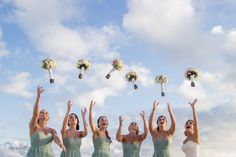 Cabo Destination Wedding Photographer Bouquet throwing! Share it with your bridemaids!