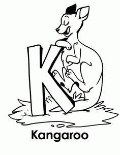 Leafy Animals Coloring Book Kangaroo