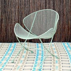 Love this. All metal is awesome. I'm all for low-maintenance. Clam Chair. $250.