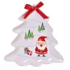 Platou in forma de brad Sweet Santa