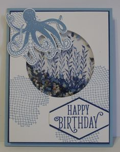 Craft Room Stamper: Sea of Textures Shaker Card Share