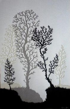 Winter Forest Original Papercut by samaki