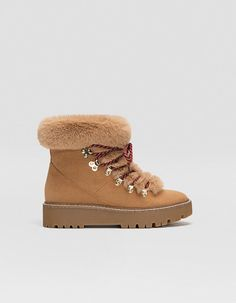Mountain boots with faux fur trim - null  db0e98ca0d