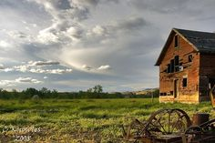 old barns on pinterest | Barns :: Old Structures / sunset