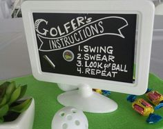 What Is the Correct Golf Swing? Golfers the world over are always in search of the perfect golf swing or the right golf swing. Golf Party Games, Golf Centerpieces, Golf Ball Crafts, Golf Wedding, Golf Day, Golf Theme, 70th Birthday Parties, Golf Gifts, Party Time