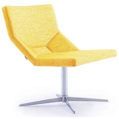 VIG Furniture VGIDJR022 Divani Casa Pico Lounge Fabric Chair in Chrome
