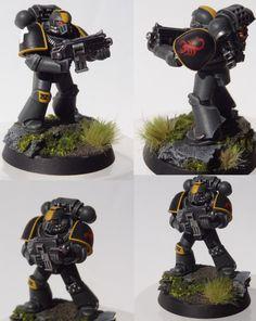 Red Scorpions Tactical Marine by TheEternalRanger.deviantart.com on @DeviantArt