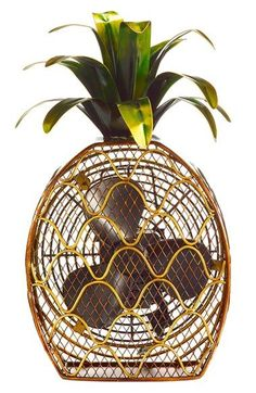 It's still so hot! This pineapple fan is too cute.