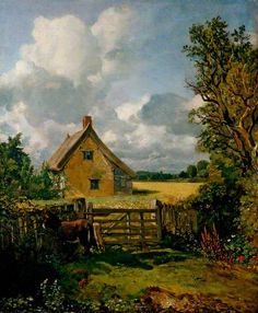 A Cottage in a Cornfield. John Constable
