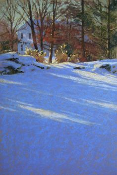 February Light  winter landscape painting by Jill Stefani Wagner. Art for sale. $600