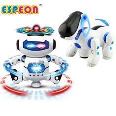 eb7dba1f2 kupować Nowy Smart Przestrzeni Tańca Walking Robot Pies Elektroniczne  Zabawki Z Muzyką Astronauta światła Boże Narodzenie