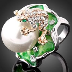 wholesale-Luxury-White-Gold-Plated-Frog-Pearl-Ring-Rhinestone-Wedding-jewelry-Make-With-Swarovski-Elements-.jpg (500×500)