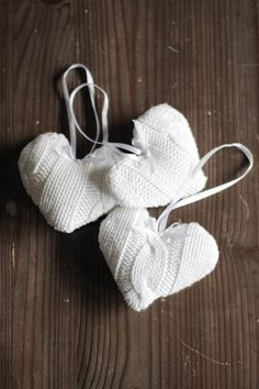 Diy Heart Christmas ornaments made from recycled sweaters
