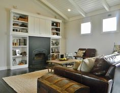 My Houzz: History Resonates in a New Washington Farmhouse Sentimental memorabilia join reclaimed pieces to create a warmly personal home for a family | traditional family room by Kimberley Bryan