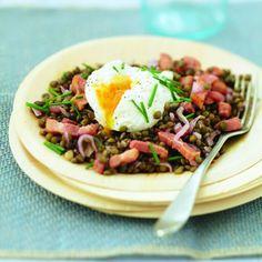 Lentilles+tièdes+aux+œufs+pochés
