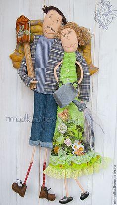 Портретные куклы ручной работы. Ярмарка Мастеров - ручная работа Дачники. Handmade.