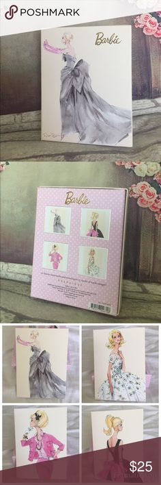 "💕Barbie💕Set of 20 Blank Notecards & Envelopes Beautiful boxed set of 💕Barbie💕20 blank notecards and envelopes by Robert Best / / 5 cards of each image // Box size 5.5"" x 7"" // Notecards 4"" x 6"" // Brand New Barbie Other"