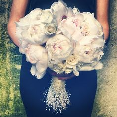 One of my favorite Courtenay Lambert Florals bridal bouquets.  Peonies and Spray Roses.