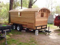 The Baldwin Gypsy caravan (interior & exterior photos)(Camping Hacks Bed) Casas Trailer, Gypsy Caravan Interiors, Gypsy Trailer, Homemade Camper, Gypsy Home, Tiny Camper, Truck Camper, Gypsy Living, Shepherds Hut