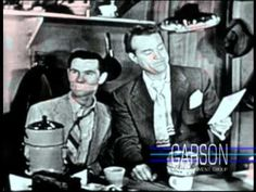 Coffee & a funny! Red Skelton ties Johnny Carson to a chair in order to guest host his show.