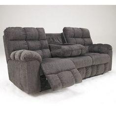 ashley furniture acieona microfiber reclining sofa 842 liked on polyvore featuring home