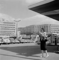 Central Station, Brussels 1956. by Cas Oorthuys