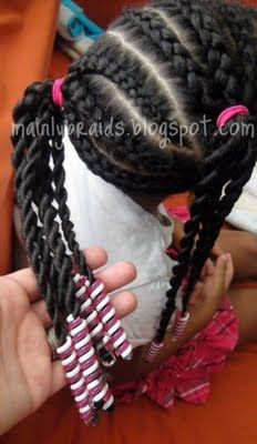 side braids #mainlybraids #natural #child #hairstyles #black #girl