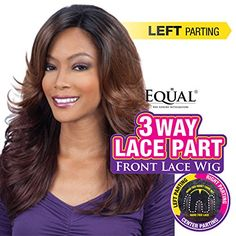 FreeTress Equal 3 Way Lace Part Lace Front Wig  MARVEL 2  DRK BRN * Continue to the product at the image link.(This is an Amazon affiliate link and I receive a commission for the sales)