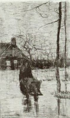 Woman with Wheelbarrow at Night - Vincent van Gogh. http://www.pinterest.com/JamesMurphyJr/art-of-jem-jr-angels/
