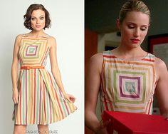 The first time I've ever been jealous of Quinn Fabray - Eva Franco Alma Dress in Carnival Stripe - $290.00.