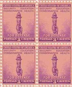 For Defense - Torch Set of 4 x 3 Cent US Postage Stamps NEW Scot 901 . $6.95. For Defense - Torch Set of 4 x 3 Cent US Postage Stamps NEW Scot 901