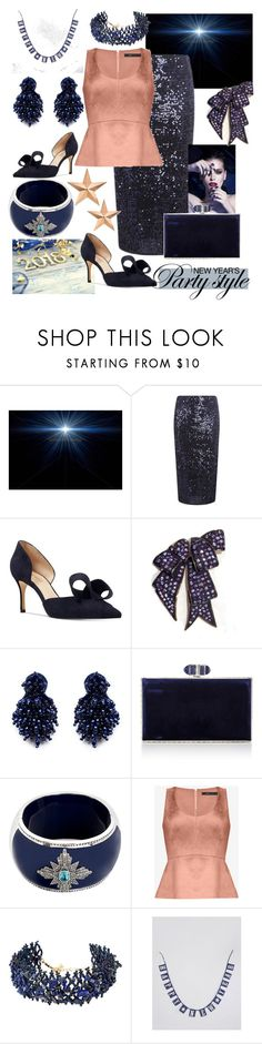 """NYE Party Style - Sequins & Suede🎉"" by mdfletch ❤ liked on Polyvore featuring Nine West, Mignonne Gavigan, Judith Leiber, Miriam Salat, BCBGMAXAZRIA, Amrita Singh, Sass & Belle, Thos. Baker and nye"