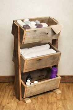 Organization/Storage Bin Repurposed wood by GrindstoneDesign