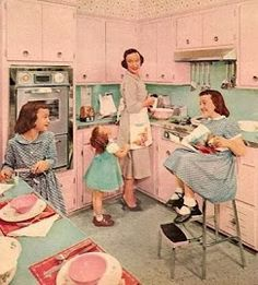 Daughters were expected to learn by watching and doing kitchen chores.  Our mother's aspirations were meant to be ours.