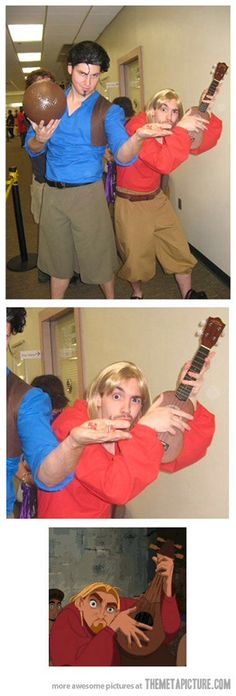 The guy on the right NAILED the cosplay.