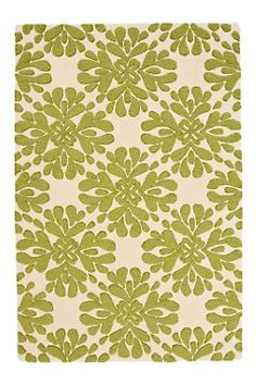 Love lime green rug from Anthropologie.