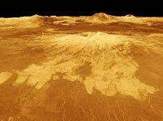 Superficie volcánica del planeta Venus.