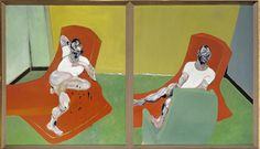Francis-Bacon-Doubel portrait of Lucien Freud and Frank Auerbach, 1964