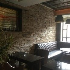 Bring a natural stone finish inside, perfect for your bar, restaurant, hotel or home; With our expertise you can have a cosy finish to any property.