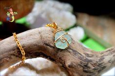Sea Glass Necklace, aqua blue seaglass Hawaiian jewelry by Mermaid Tears